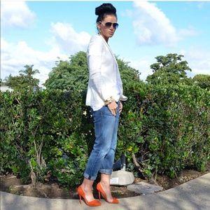 Shoes - LAMB Orange D'orsay pump